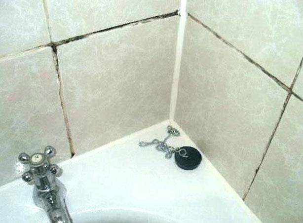 почистване на мухъл в банята
