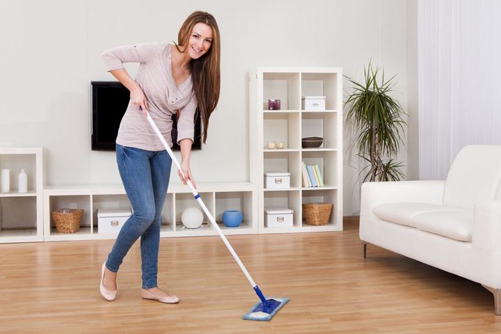 почистване на всекидневна