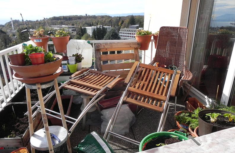 почистване на балкон